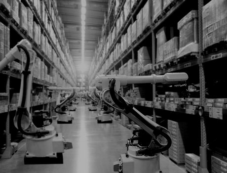 Robots in an automated warehouse