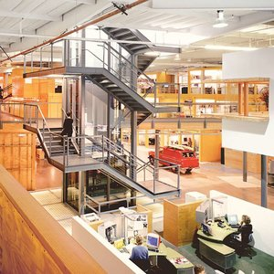 inside office space of an interior design firm