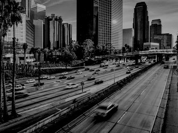 Freeway by downtown Los Angeles